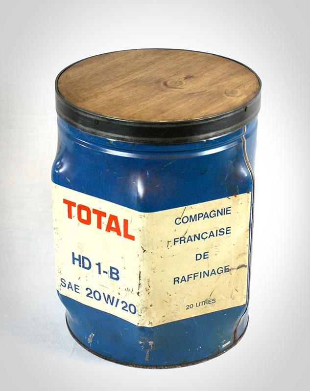 Bidon d'huile total détourné