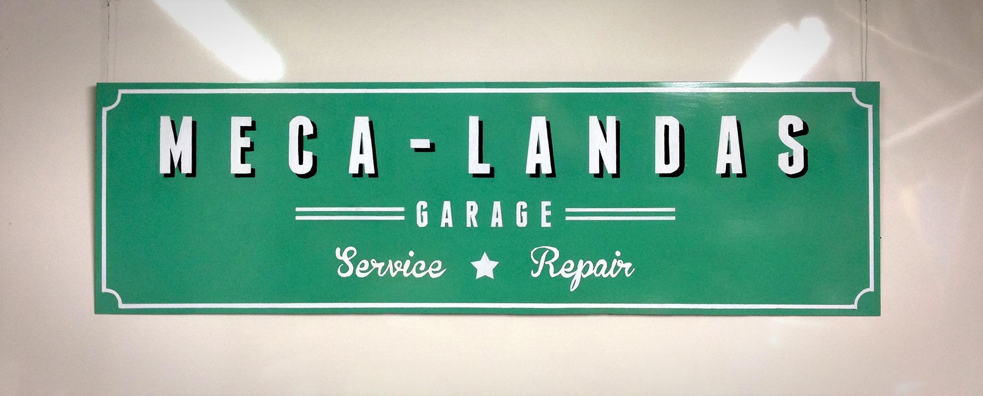 Enseigne de garage Meca Landas