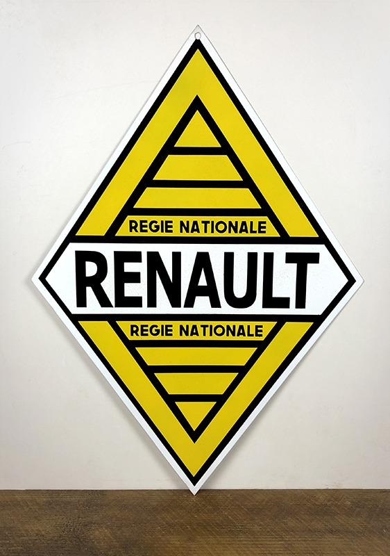 Plaque en tôle peinte Renault