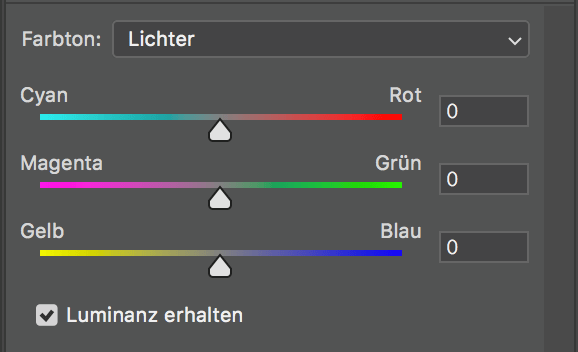 color balance layers