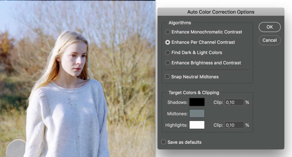 converting negative to positive_ Auto color correction options