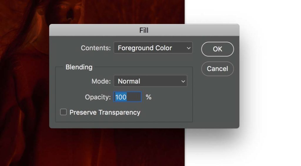 converting negative to positive_ fill with foreground color