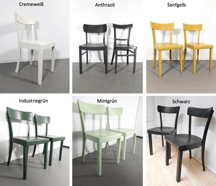 Beispielfoto Standardfarben für Frankfurter Stühle