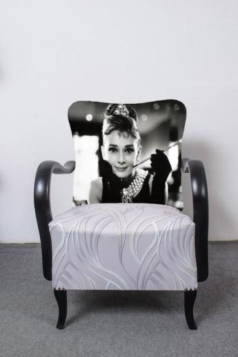 Art deco  fotel  - Audrey Hepburn