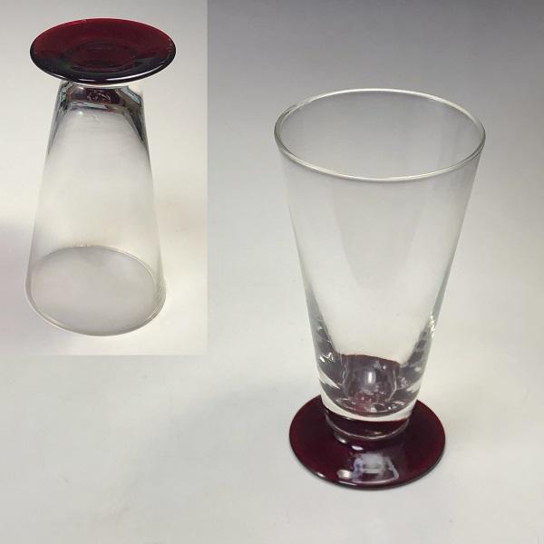 ラッパ型ガラスコップR7003