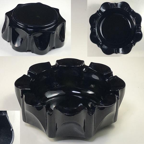 黒ガラス灰皿R7008