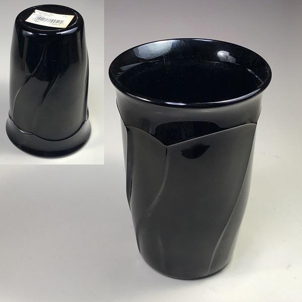 ノリタケSWEET SWIRL黒ガラスコップ
