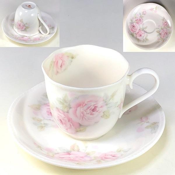 薔薇柄カップ&ソーサーR7351