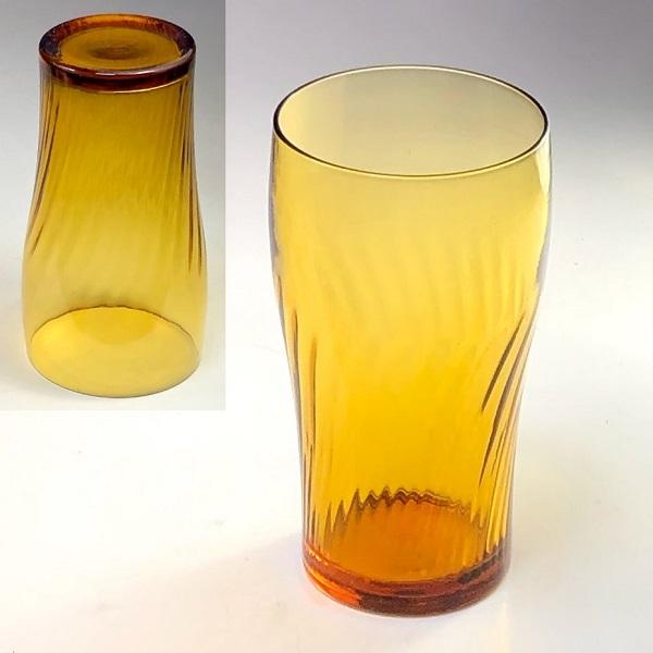 アデリアアデラックス飴色ガラスコップR7537