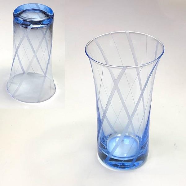 青ガラスコップR7257