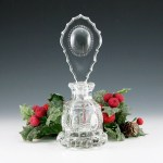 Antique Czech Crystal Medallion Perfume Bottlea