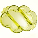 Beautiful mid-century modern color called Chartreuse by Duncan Miller. Quality crystal from the 1960's.