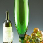"Retro modern vintage glass rocket vase from Mid-20th century Italy. Attention grabbing vase stands 17"" tall."