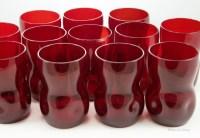 Vintage ruby glass tumbler set of 12 by Morgantown Glass.
