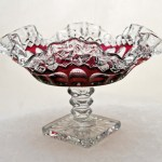 This lovely footed bowl was made by Westmoreland Glass Co. (established in 1889 - closed in 1984).