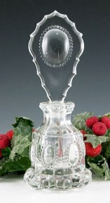 Czech glass Crystal Medalion Perfume Bottle