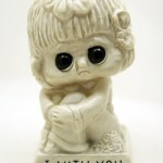 Vintage Big Eye Sad Girl 'Mith You' statue.