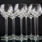 Fine Blown Crystal Goblets Set of 10 Pinot Noir
