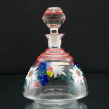 WWII German occupied glass decanter made in the former Sudetenland, a region in the former Czechoslovakia.
