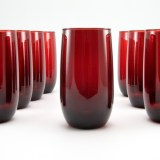 Royal Ruby tumblers circa 1938 to 1967.