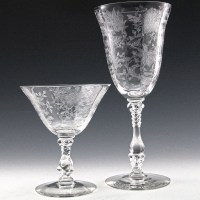 Beautiful, elegant quality vintage crystal stemware set for your next dinner party!