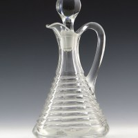 Heisey Prison Stripe Pattern #357 Antique Crystal Cruet Rare Rare Heisey Prison Stripe crystal cruet with original stopper. Very hard to find pattern and form made by Heisey in the U.S.A. for only 5 years.