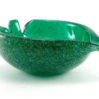 "It's big and very useful. It was designed to double as a catch-all, flower bowl, candle holder, snack bowl, and even as an ashtray. Measures 6"" wide, 7"" long, 3.5"" tall and weighs 2.8 lbs."