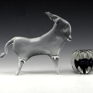 Shown in Pilgrim Art Glass 1972 catalog, part no. 911. Hand-formed in heavy lead crystal.