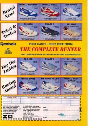 1988 Reebok Complete Runner Range