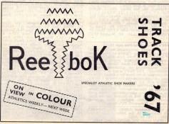 Reebok advert Feb 1967