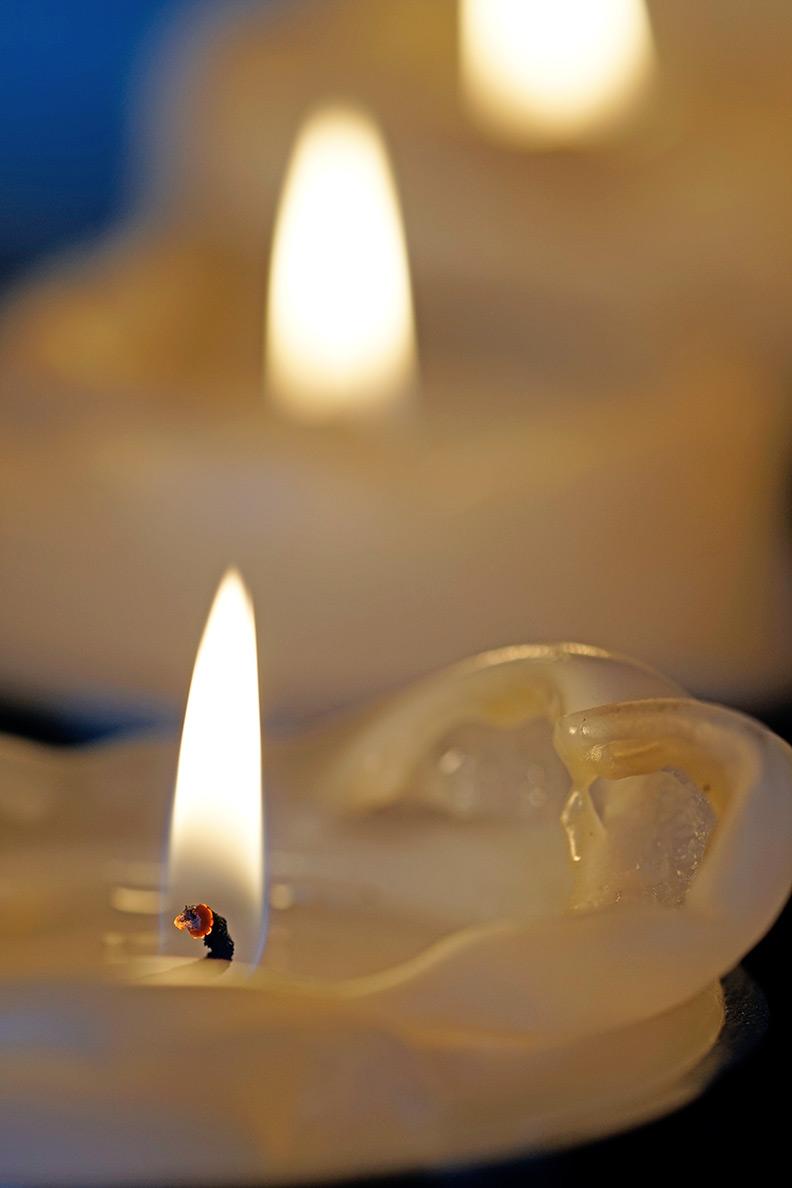 Weihnachtliche Kerzen bei RetroCat