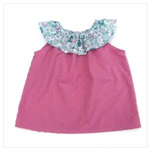 Top-en-plumetis-de-coton-vieux-rose-et-liberty-betsy-mint-and-pink-enfant-bébé-retrochic-boutique