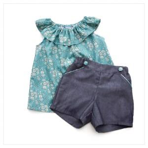 Retrochic-boutique-mode-pour-enfants-short-chambray-de-coton-anthracite-liberty-of-london-capel-sea-green-made-in-france-