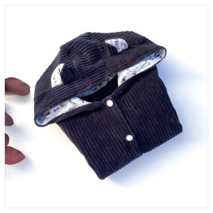 veste pour bébé et enfant velours cotelé marine/bleu marine/theo denim