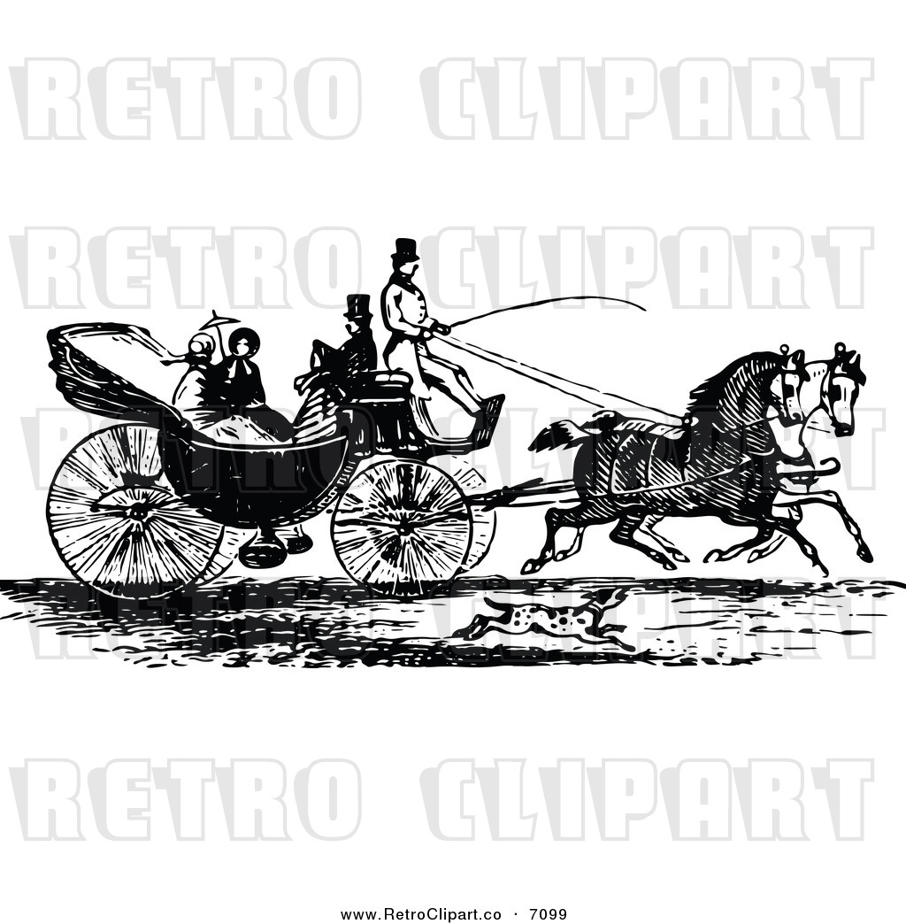 Horse Carriage Clipart Vector Horse With Carriage
