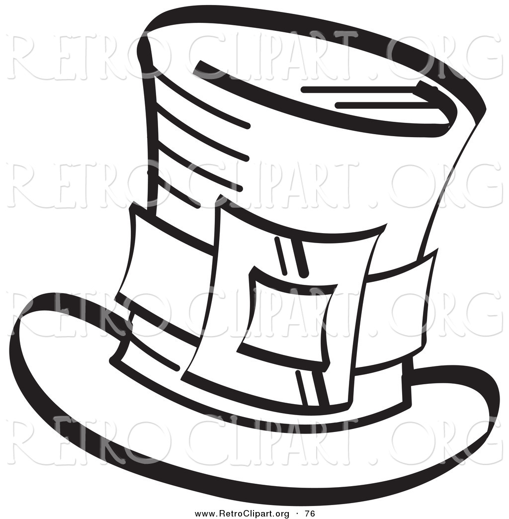 Retro Clipart Of A Coloring Page Of An Irish Leprechaun S