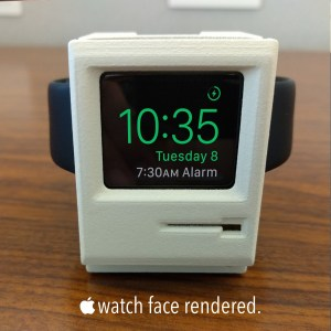 Apple Watch in Mac charging stand