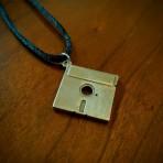 Floppy Disk Pendant (or keychain)