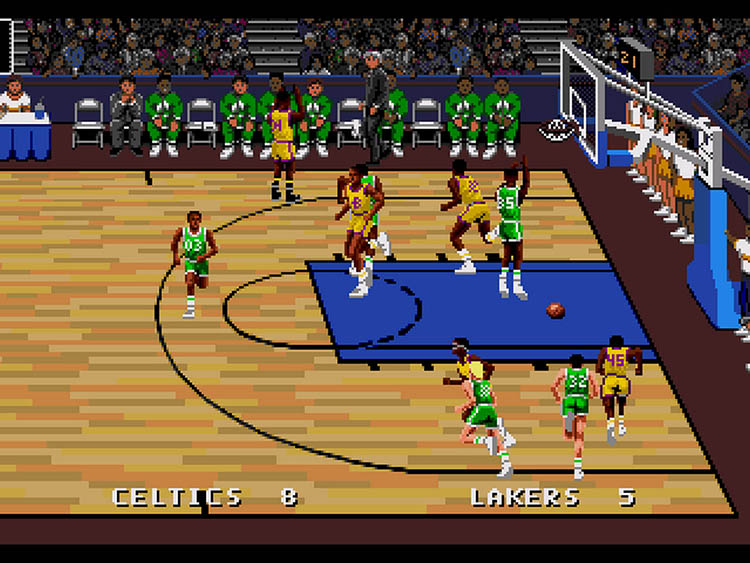 lakers vs celtics basketball video game 1991
