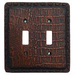 Gator Alligator Crocodile Switch Wall Plate Double Rocker Switch