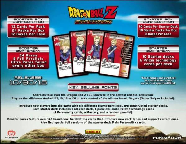 Dragon Ball Z Evolution TCG Sales Sheet