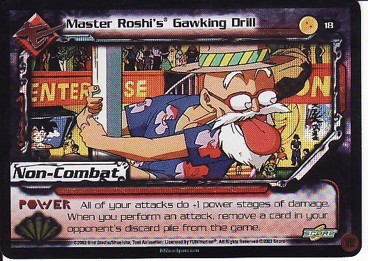 18 Master Roshi's Gawking Drill