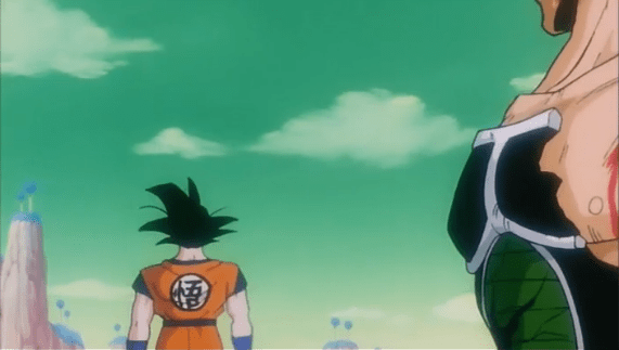 Pictured: Bardock heroically not telling Goku about their family's history of heart disease.