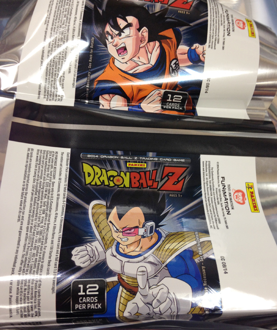 Panini America DBZ Dragon Ball Z TCG CCG Limited First Edition Set One Booster Pack Wrapper