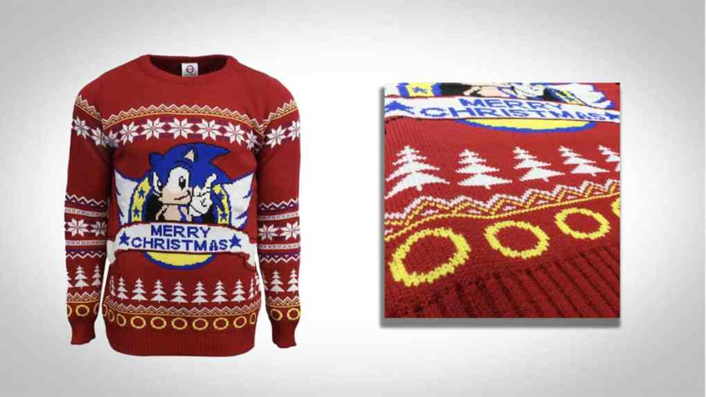 sonic the hedgehog christmas jumper