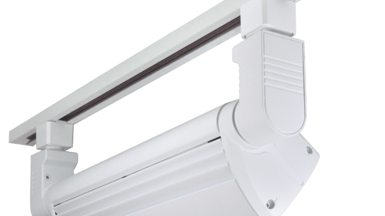 led track lighting washes retail and commercial wall displays in