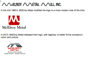 McElroy Metal's logo evolution