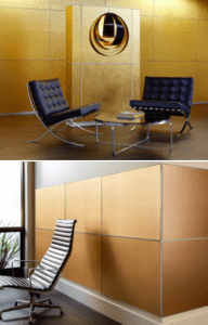 With two out-of-the-box solutions from 3form, Box Wall and Clad Wall, Varia Ecoresin can now cover fixed walls, offering a great alternative to traditional wall coverings or even paint.