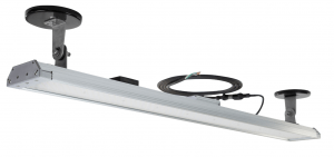 Larson Electronics has released a 160-watt low-profile LED light fixture equipped with magnets for temporary mounting while offering operators an energy-efficient direct replacement for fluorescent lighting solutions.