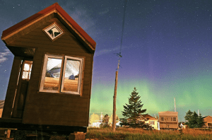By using a tiny home as their mobile research base, Katy and David hope to raise awareness of the consequences of global consumption while reducing their own carbon footprint and show others what can be accomplished with a small budget and a strong motivation.